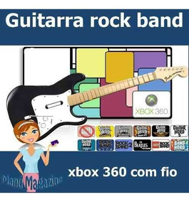 Guitarra Xbox 360 Estratocaster Rock Band Guitar Hero C Fio