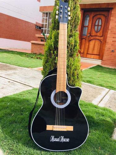 guitarras acusticas+metodo+paño limpiador ,personalizada