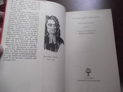 gulliver's travels jonathan swift en ingles tapa dura