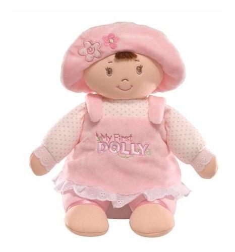 gund my first dolly stuffed brunette doll plush, 13