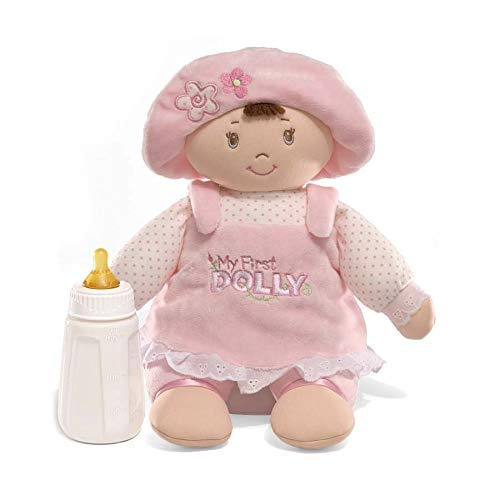 gund my first dolly stuffed brunette doll plush, 13