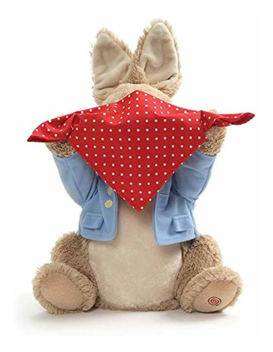 gund peter rabbit peek-a-boo plush animated