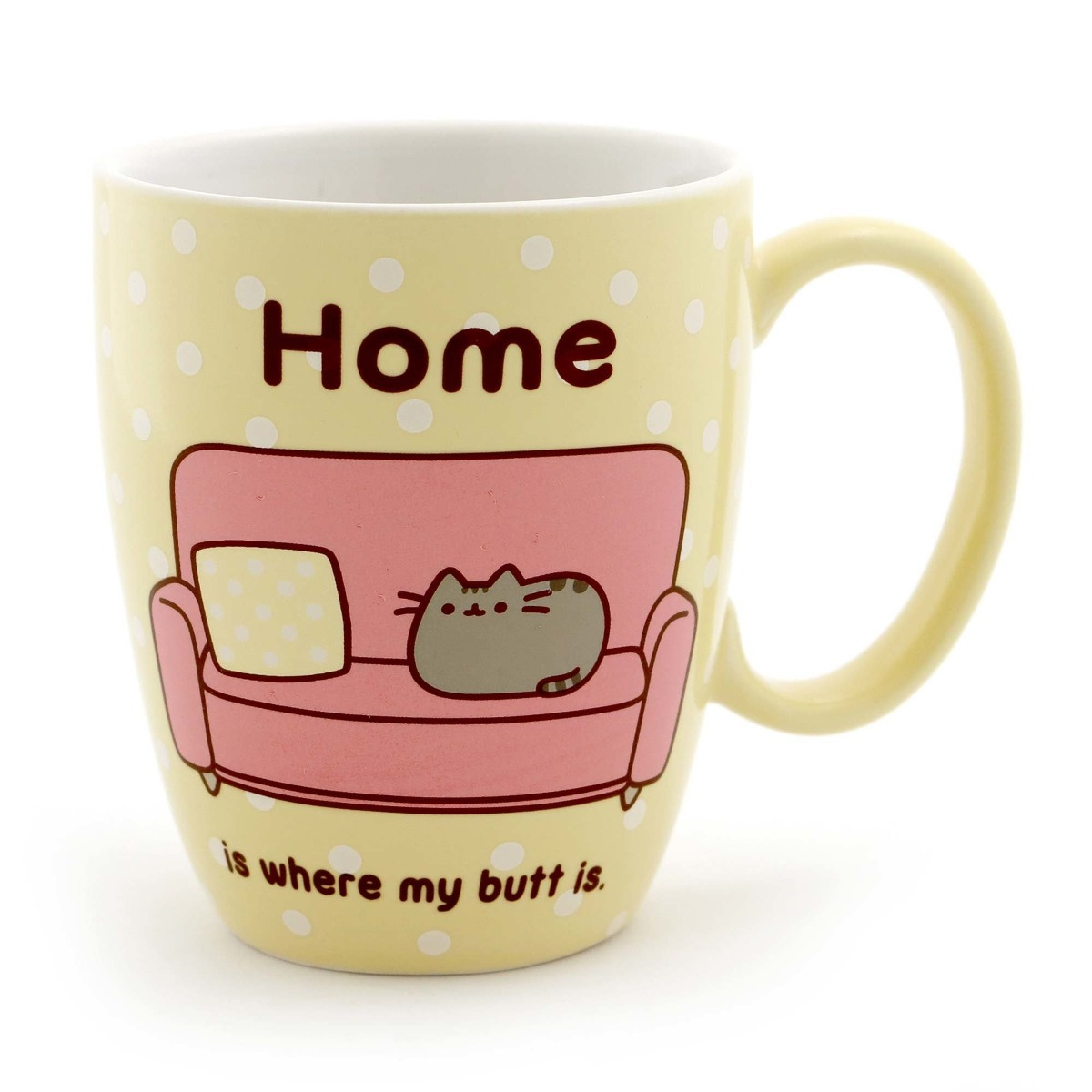 gund pusheen the cat pastel stoneware mug en mercado libre. Black Bedroom Furniture Sets. Home Design Ideas