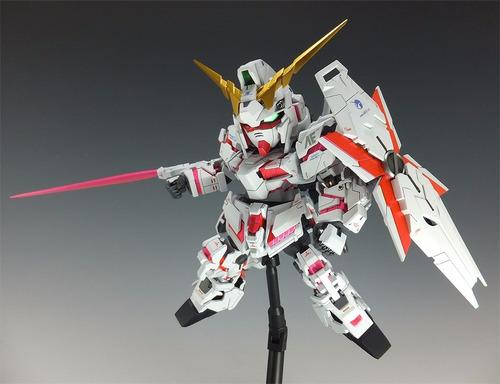 gundam ex standard unicorn gundam (destroy mode) sd maqueta