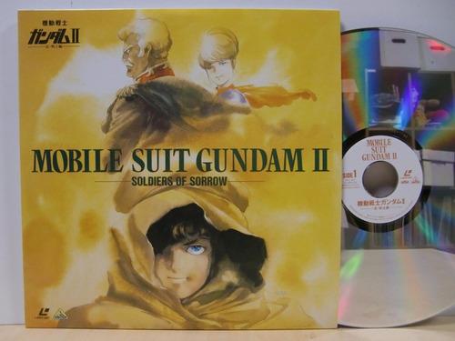 gundam mobile suit  - 3 peliculas, 6 laserdisc de colección