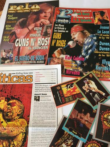 guns and roses // gran lote de material de prensa