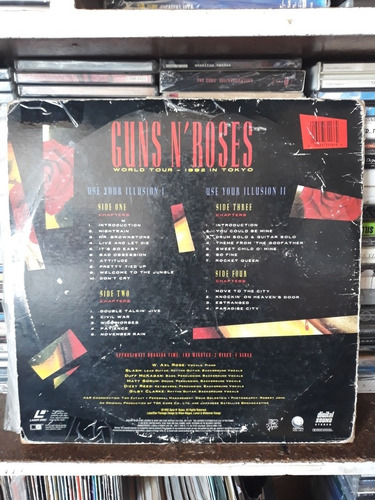 guns and roses laser disc use your illusion