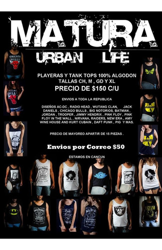 guns and roses playera y tank top