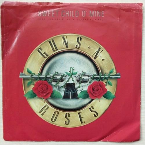 guns and roses - sweet child o' mine - ep vinilo 45 rpm