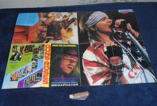 guns n´ rose axel rose revista poster anos 90 rarissima