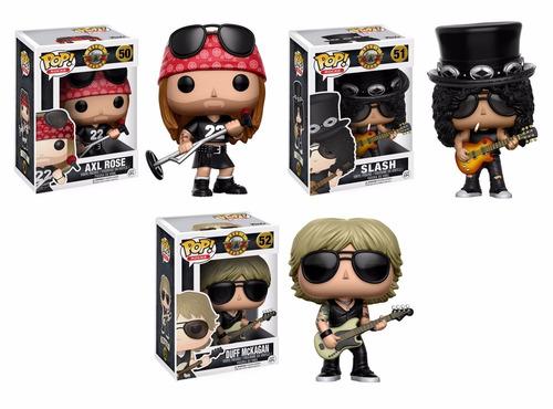 guns n roses axl, slash e duff - pop! funko