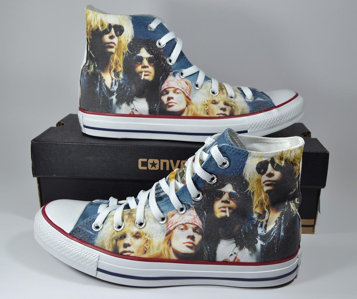 7929a8ef1 Guns N Roses Converse Personalizadas Talla 41.5 (us Men 8) - S  199 ...