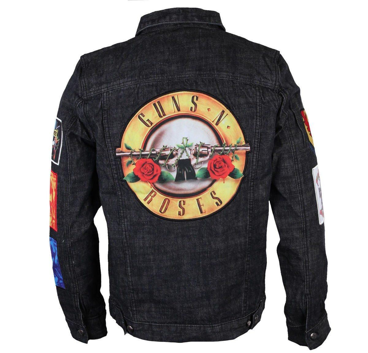 Guns N Roses Denim Jacket Gnr Chamarra Chaqueta Playera