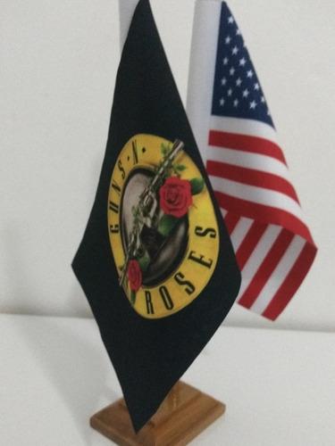 guns n' roses + estados unidos bandeiras de mesa