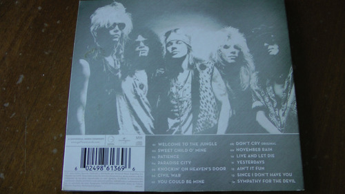 guns n'  roses greatest hits cd