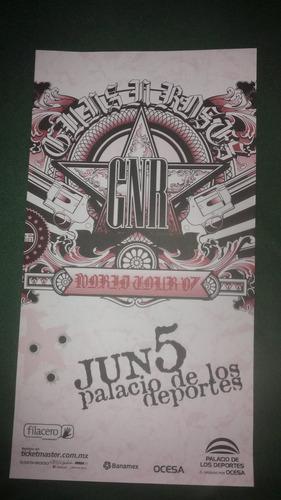 guns n roses poster promo oficial palacio dep. 2007 axl rose
