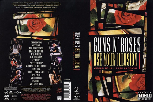 guns n' roses - use your illusion 1 live tokyo - dvd novo
