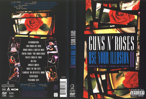 guns n' roses - use your illusion 2 live tokyo - dvd novo