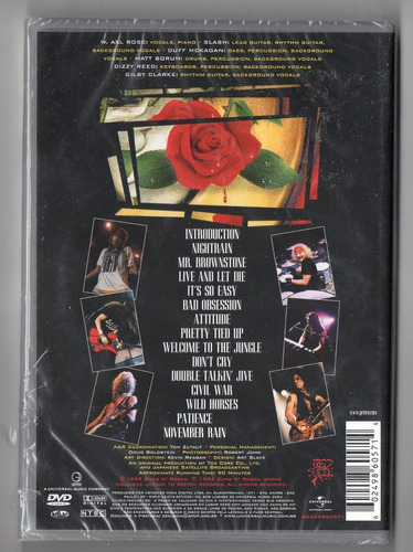 guns n` roses - use your illusion i dvd lacrado