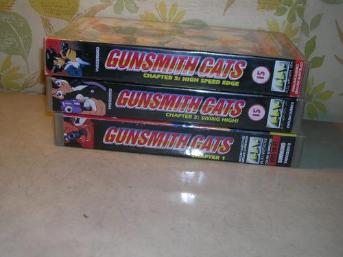 gunsmith cats- vhs - manga japones x 3 un.
