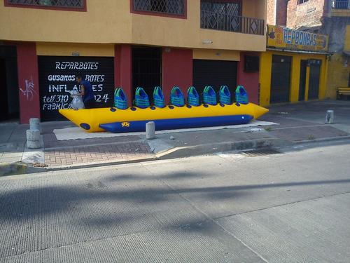 gusanos y botes inflables