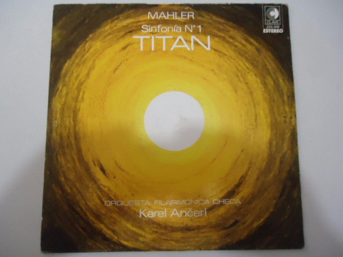 gustav mahler / sinfonia no 1 titan vinyl lp acetato