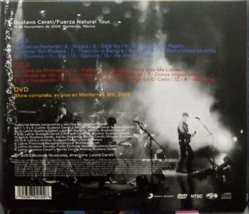 gustavo cerati fuerza natural tour  2 cds+1 dvd disponible !