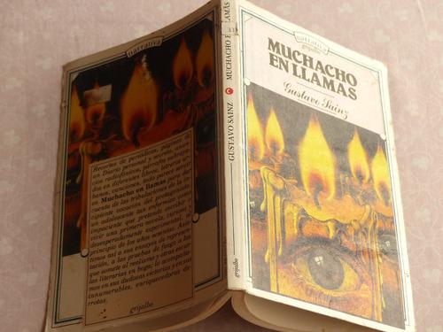 gustavo sainz, muchacho en llamas, grijalbo, méxico, 1987.