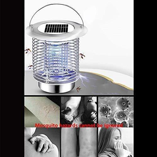 gutreise insectos electricos solares mosca mosquito lampara