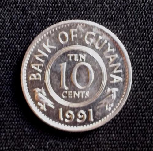 guyana - 10 cent 1991