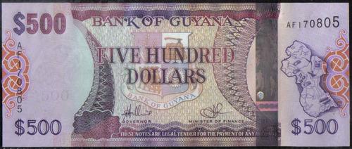 guyana 500 dollars nd2011 p37