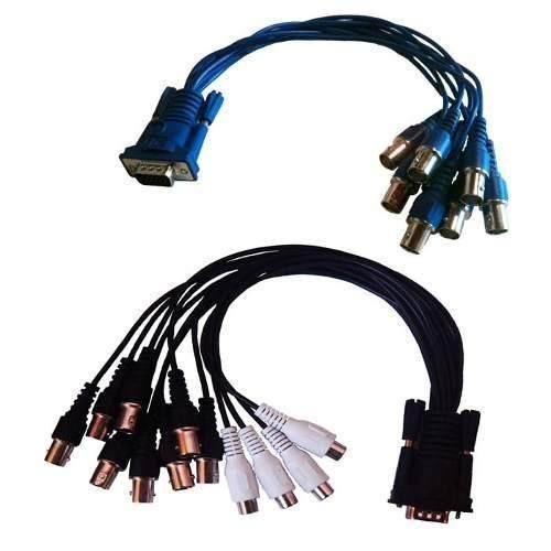 gv geo vision jogo de cabos imagem e audio 16 cameras