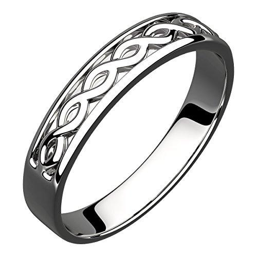 23f8cf5db6fa Gwg Anillo De Plata De Ley Para Mujer Diseño De Tejido Celt ...