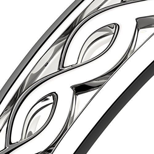 00c346e577ec gwg anillo de plata de ley para mujer diseño de tejido celt. 6 Fotos