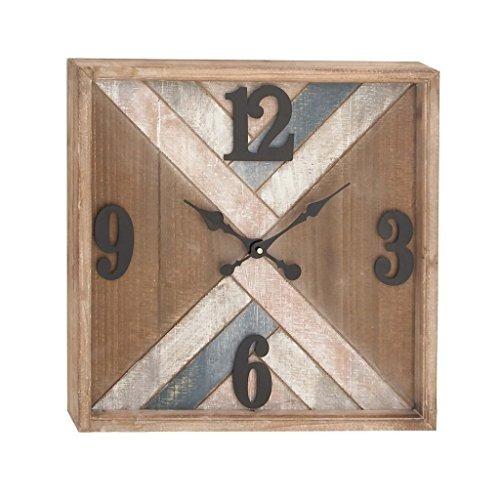 8c3dfbbb6c21 Gwg Outlet Metal Reloj De Pared De Madera 19 W 19 H 94628 ...
