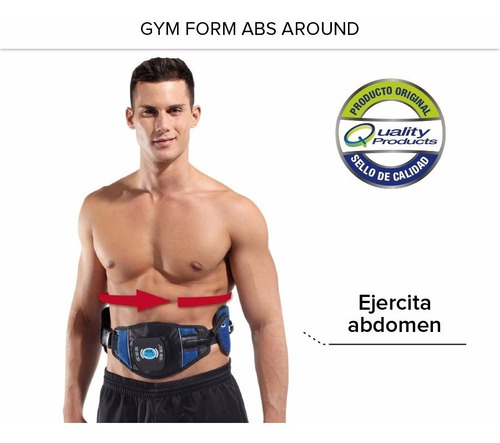 gym form abs around cinturón abdominal original