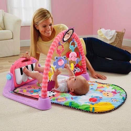 gym pianito para babys en celeste o rosado