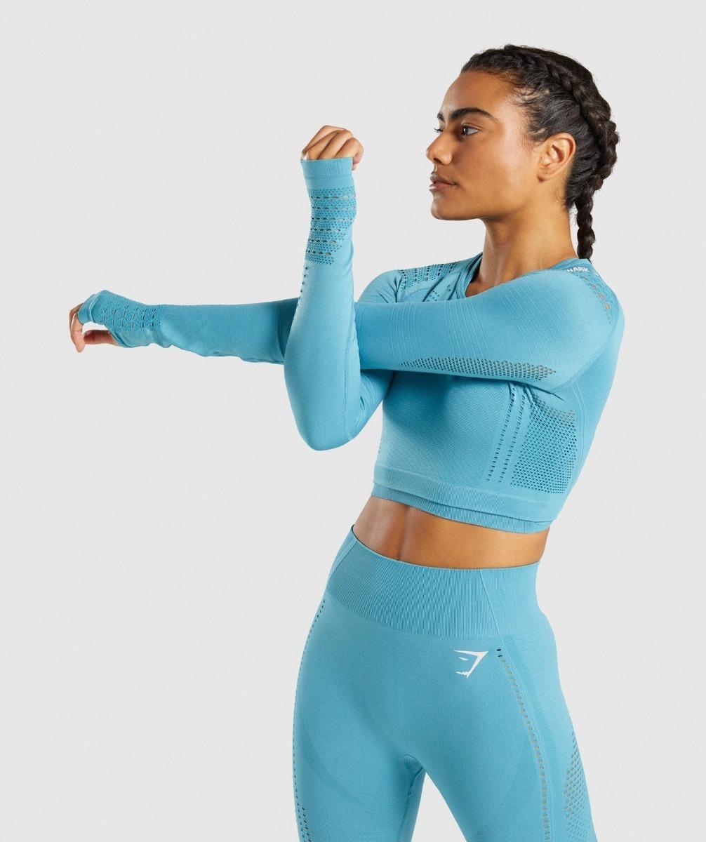 9e7e4ab10a60e gymshark flawless knit crop top manga larga ejercicio gym. Cargando zoom.