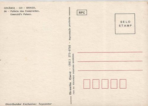 gyn-2406- postal  goiania, g o-  palacio das esmeraldas