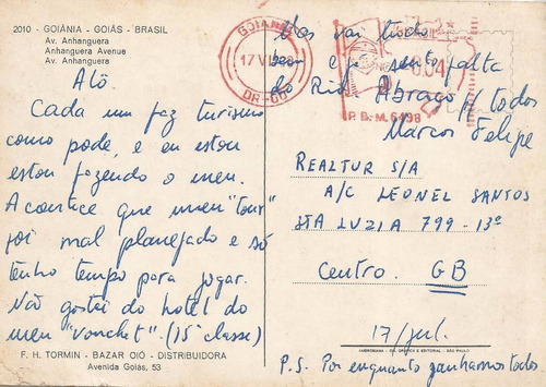 gyn-5475- postal goiania, g o- av anhanguera