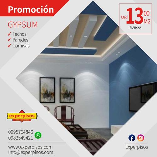 gypsum $13,00 m2  precio oferta