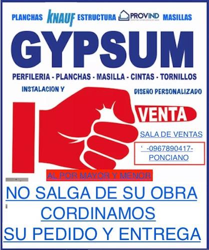 gypsum - instalación
