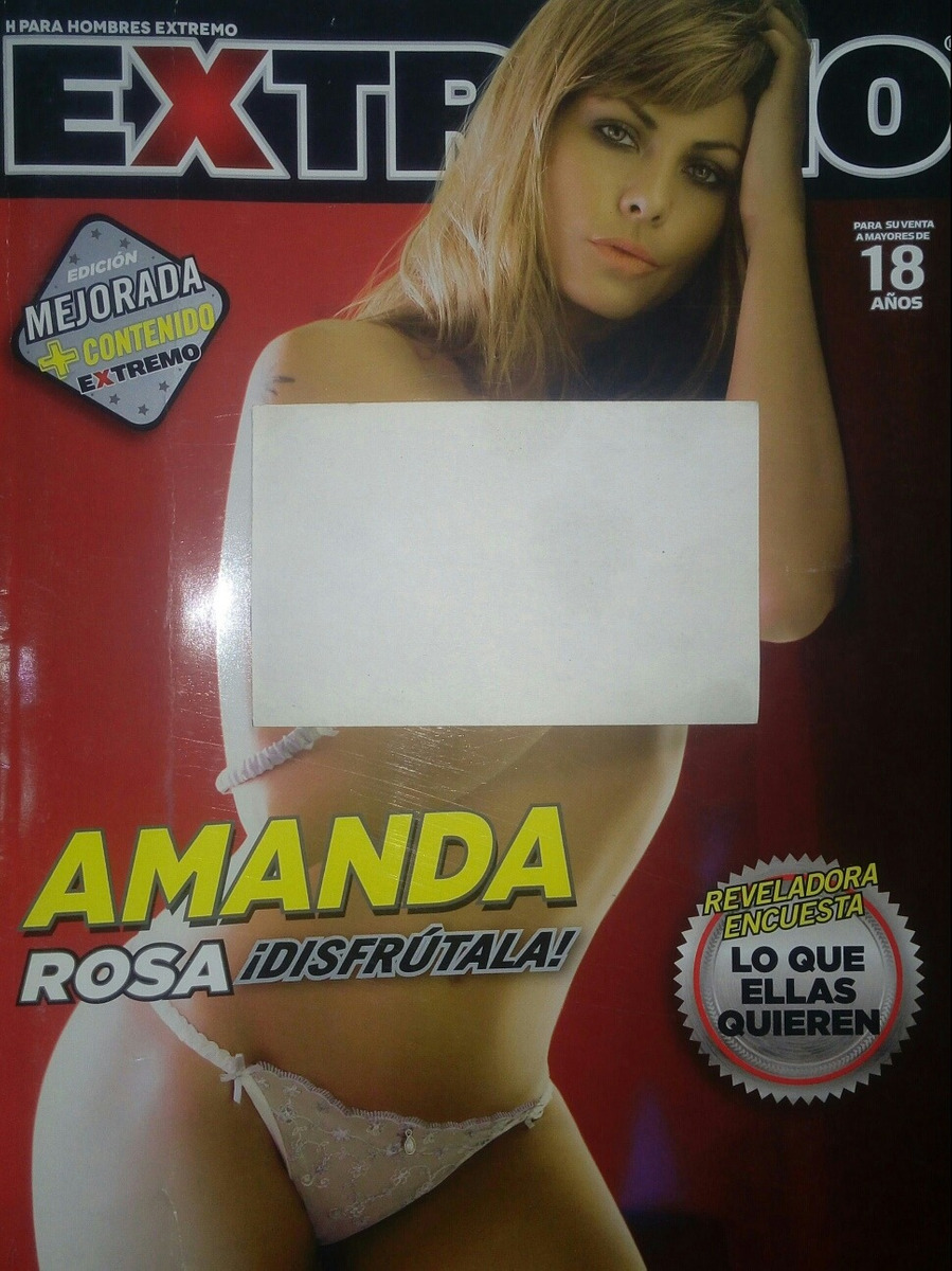 Amanda Rosa Revista h para hombres extremo/ maryfer y amanda rosa/ 2 revistas.