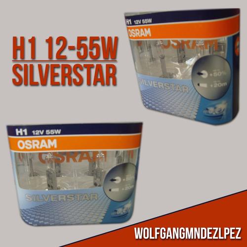 h1 silverstar 50% más luz 12v 55w. blister x 2 unid.