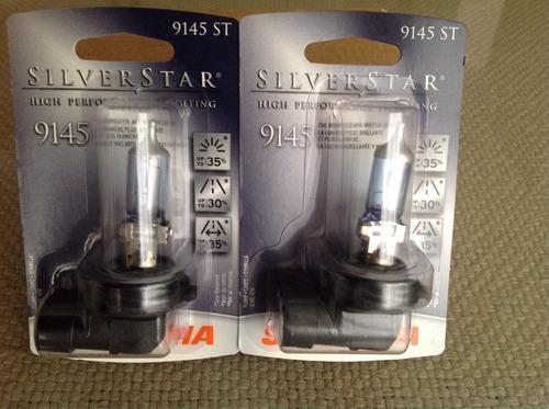h10 (9145) silverstar 35% más luz de sylvania. 12v 45w.
