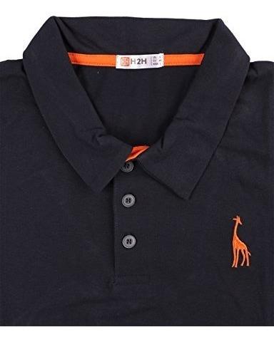 h2h para hombre casual solido jirafa polo camisas con jirafa