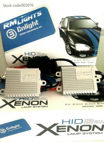 h3: xenon h3 55w 6000k marca cnlight serie ball shape ac.
