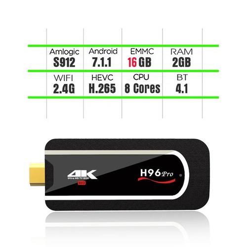h96 pro android tv box mini pc amlogic s912 octa-core 64 bit