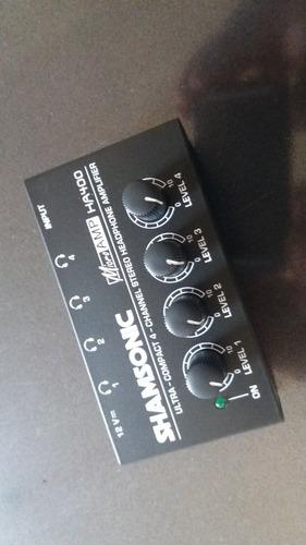 ha 400 amplificador fones shansonic /behringer microamp 4can