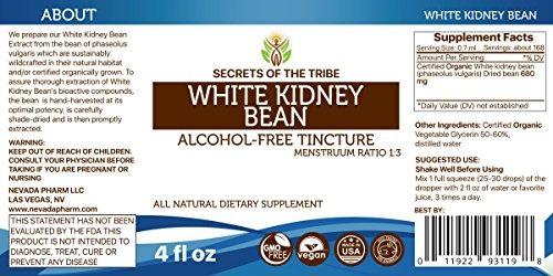 haba de riñón blanca tintura sin alcohol extracto orgánic